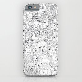 Les Chiens iPhone Case