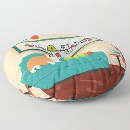 A Corgi Makes A House A Home Floor Pillow