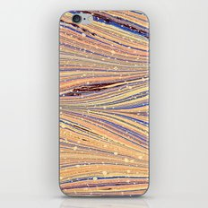 Marbled White Light Flow iPhone & iPod Skin