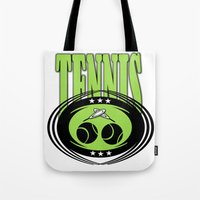 tennis Tote Bags featuring TENNIS  by Robleedesigns