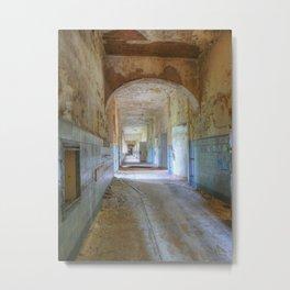 Beelitz Heilstaetten hallway, Lost Places Metal Print
