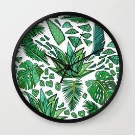 Tropical Leaf Pattern 01 Wall Clock