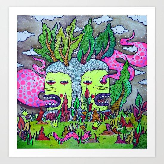 Where The Tree Goblin Grows Art Print