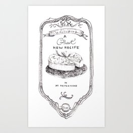 A great new recipe in my repertoire. By Sarah Clement Art Print