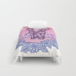 Cute Baby Elephant in pink, purple & blue Comforters