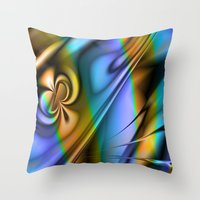 patrick Throw Pillows featuring St Patrick by Robin Curtiss