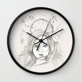 Down and Down and Down Wall Clock