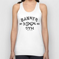 gym Tank Tops featuring Banner Gym by Mitch Ethridge