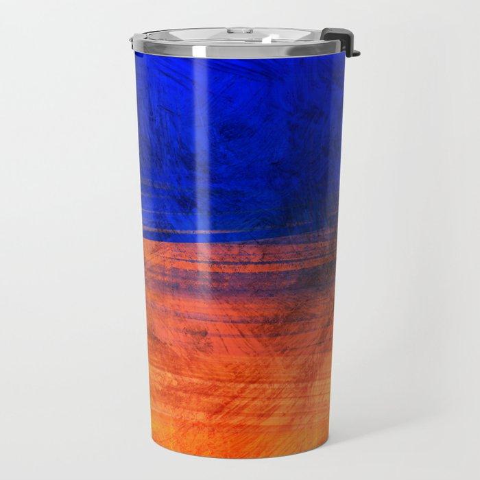 Red Blue Scratch Travel Mug