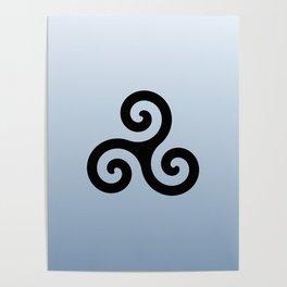 Triskele 6 -triskelion,triquètre,triscèle,spiral,celtic,Trisquelión,rotational Poster