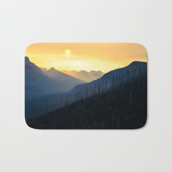 Sunrise Over Mountains Bath Mat