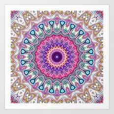 Colorful Ornate Mandala Art Print