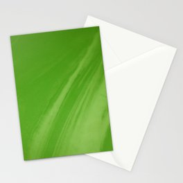 Blurred Emerald Green Wave Trajectory Stationery Cards