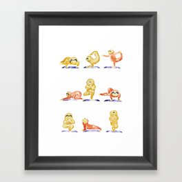 Sloth Yoga Watercolor Framed Art Print