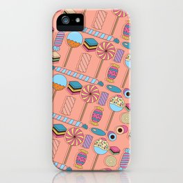 Licorice Candy Colorful Pattern iPhone Case