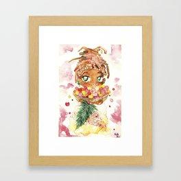 Nutmeg Berrysome - Food and Chibi Framed Art Print