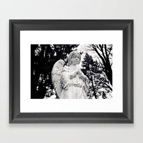 The angels pray Framed Art Print