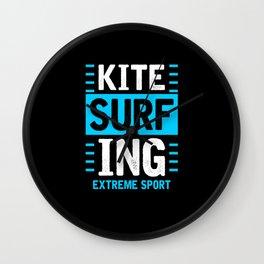 Kitesurfers Surfing Wall Clock