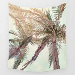Sunny San Diego Day with Palm Trees Wall Tapestry