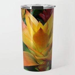 Orange guzmania tropical flower Travel Mug