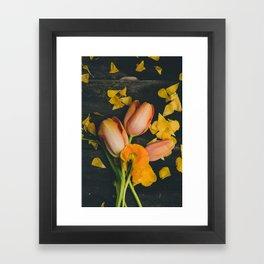 Spring Tulip Flowers Framed Art Print
