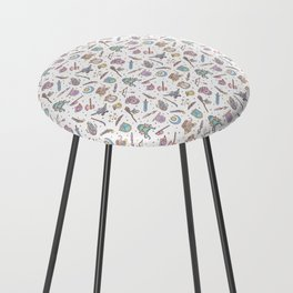 Cute Dungeons and Dragons Pattern Counter Stool