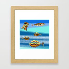 under the sea there's a colorful world Framed Art Print