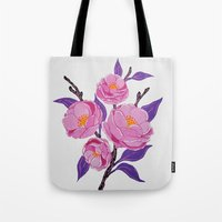 study Tote Bags featuring Flower study by Bexelbee