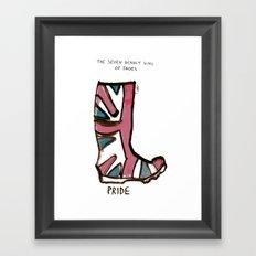 Sins of shoes - pride Framed Art Print