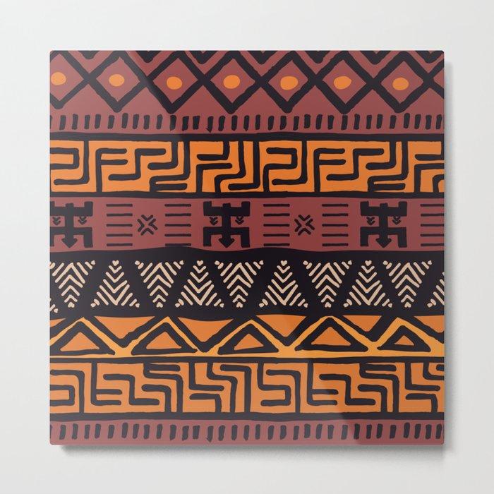 Tribal ethnic geometric pattern 021 Metal Print