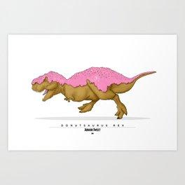 Donutsaurus Rex Art Print
