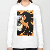 givenchy Long Sleeve T-shirts featuring Givenchy scarf with flame and bambi print by Le' + WK$amahoodT Boutique by Paynasa®