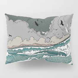 Stormy seas Pillow Sham