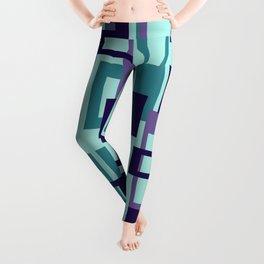 Geometric rectangles pattern violet Leggings