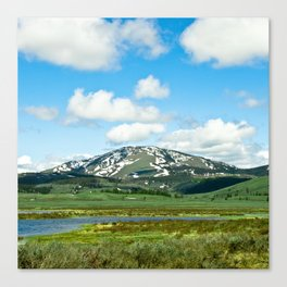 Yellowstone Mountain Canvas Print