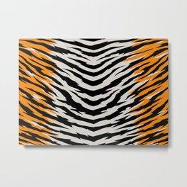 Tiger stripes pattern. Digital illustration. Metal Print