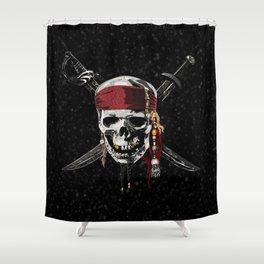 The Pirates Skull Sword Shower Curtain