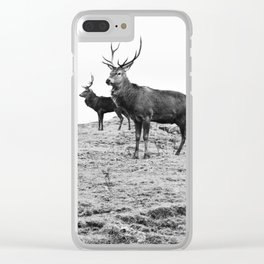 Stags on the hill Clear iPhone Case