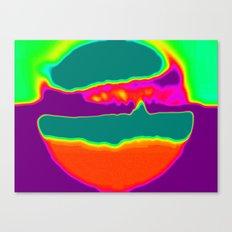 Psychedelic Hamburger Canvas Print