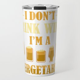 Craft Beer Lovers Beer Driner Gift Beergetarian Travel Mug