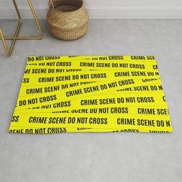 Crime Scene Tape Pattern Rug