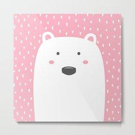 Pink Bear Metal Print