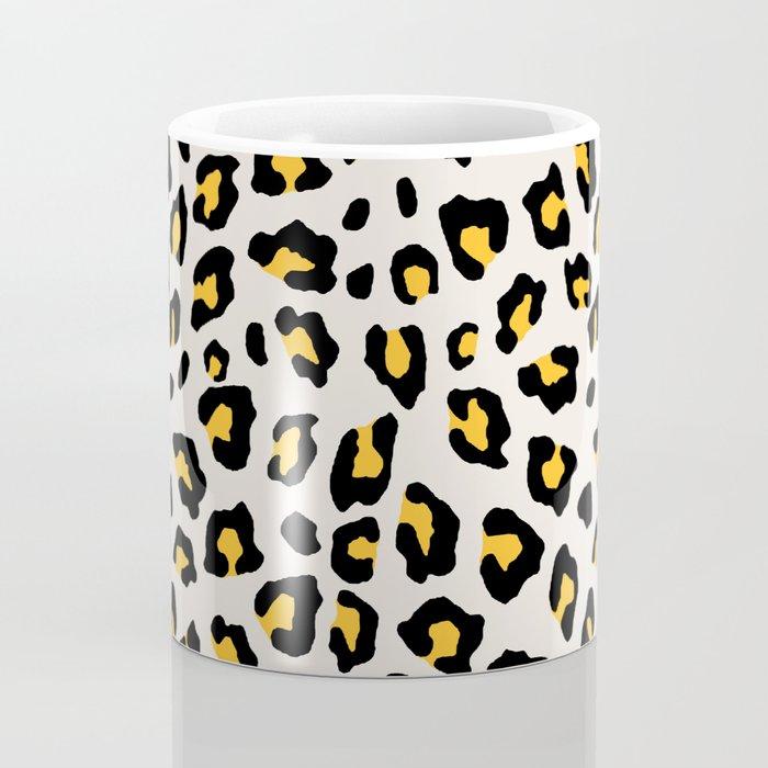 Leopard Print - Mustard Yellow Coffee Mug