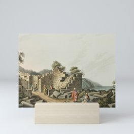 Ruins of an ancient Temple in Samos from Views in the Ottoman Dominions in Europe in Asia and some o Mini Art Print