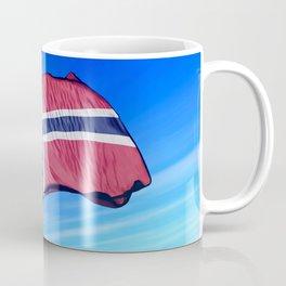 Norway flag waving on the wind Coffee Mug