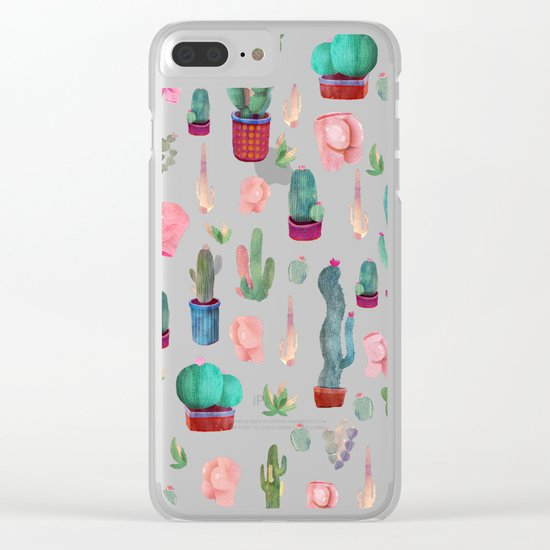 cactus and butts Clear iPhone Case