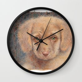 Retriever puppy Wall Clock
