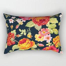 Amber Garden Florals Rectangular Pillow