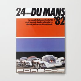 Race Poster 1982 Metal Print