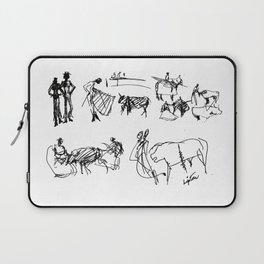 At the Bull Fight , SPAIN          by Kay Lipton Laptop Sleeve
